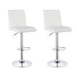 Frioa Swivel Upholstered Adjustable Height Extra Tall Stool (Set of 2) by Orren Ellis