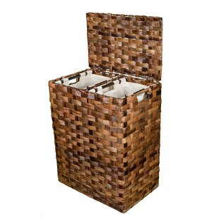 Beachcrest Home Divided Flat Weave Wicker Laundry Sorter