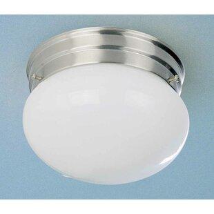 1-Light Ceiling Fixture Semi Flush Mount by Volume Lighting