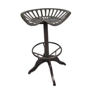 Baver Adjustable Height Swivel Bar Stool by Williston Forge