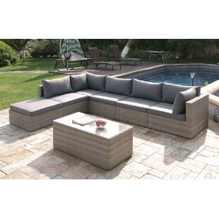 7 Piece Sectional Seating Group With Cushions By JB Patio