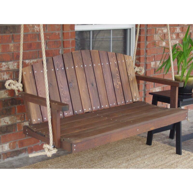 Loon Peak Alaina Cedar Rope Porch Swing Reviews Wayfair