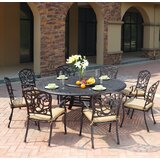 Battista Traditional 10 Piece Dining Set with Cushions
