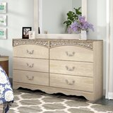 Emely 6 Drawer Double Dresser with Mirror by Ophelia & Co.