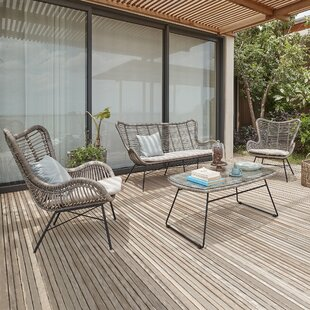 Lino 4 Seater Rattan Sofa Set By Sol 72 Outdoor