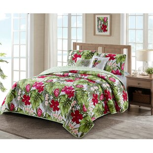 Cordell Palm Reversible Quilt Set by Bay Isle Home Great price