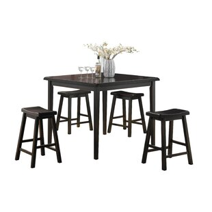 Winston Porter Porterdale 5 Piece Counter Height Dining Set