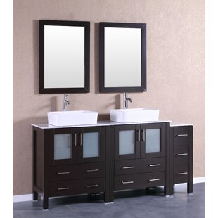 Dinara 71 Double Bathroom Vanity Set with Mirror by Bosconi