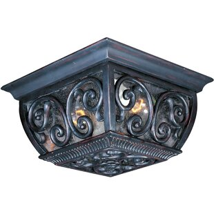 Astoria Grand Isaacson 2-Light Outdoor Flush Mount