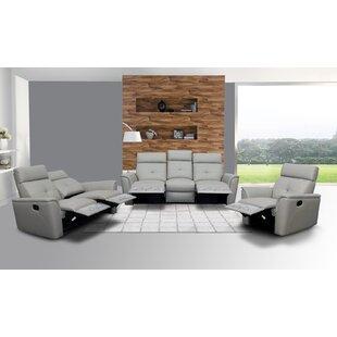 Anastasika 3 Piece Leather Reclining Living Room Set By Latitude Run
