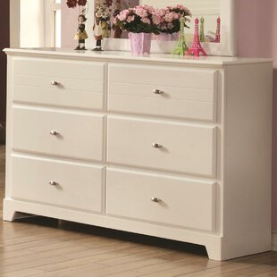 Kinney 6 Drawer Double Dresser