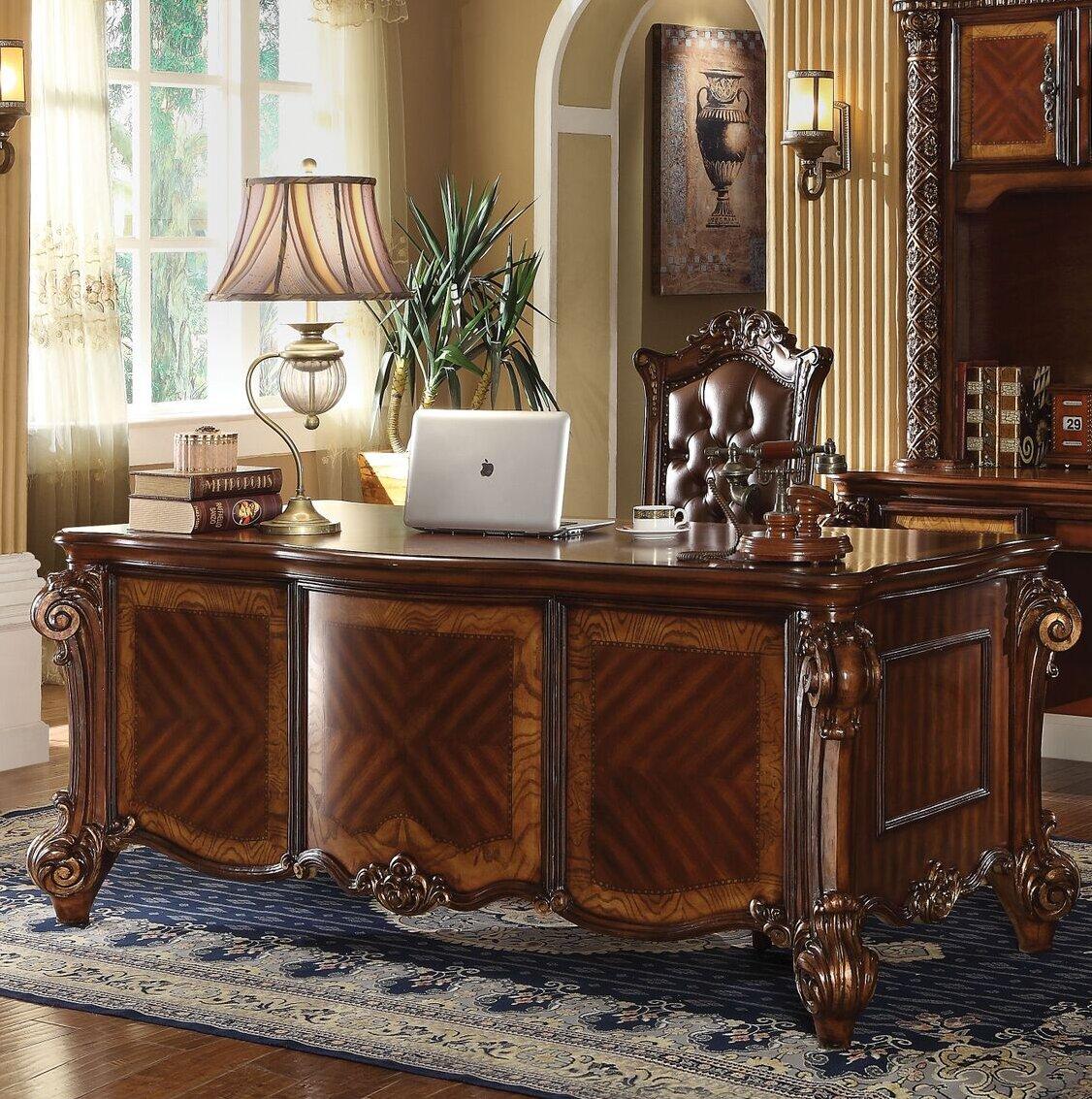 A J Homes Studio Tigranuh Executive Desk Wayfair Ca