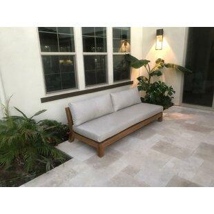 Hedgepeth Hand Patio Sofa with Sunbrella Cushion by Bloomsbury Market