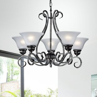 Winston Porter Montague 5-Light Shaded Chandelier
