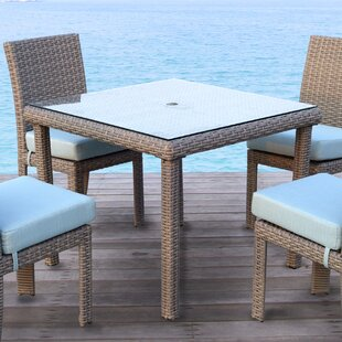 Spero  Glass Dining Table by Bay Isle Home