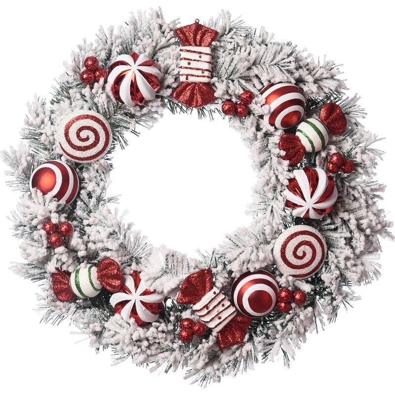 The Holiday Aisle Christmas 24 Plastic Wreath Reviews Wayfair
