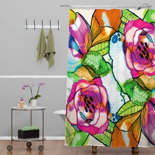 Fleener Fantasy Garden Single Shower Curtain