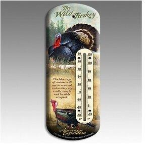 Turkey Tin Back Porch Thermometer