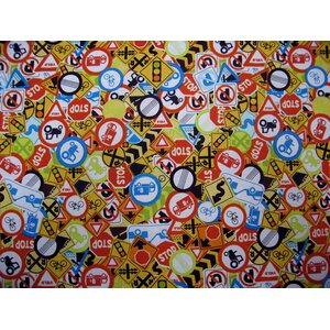 Traffic Signs Toddler Fitted Crib Sheet