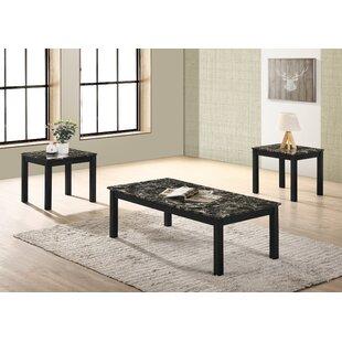 Bisou 3 Piece Coffee Table Set