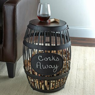 Buy luxury Barrel Cork Catcher End Table By Wine Enthusiast