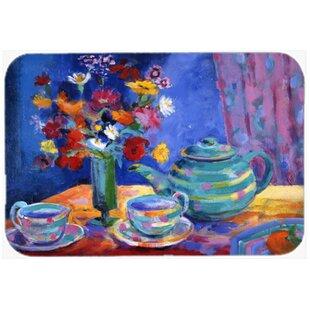 Blue Tea Glass Cutting Board