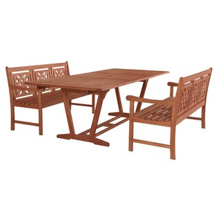 Stephenie 3 Piece Patio Dining Set