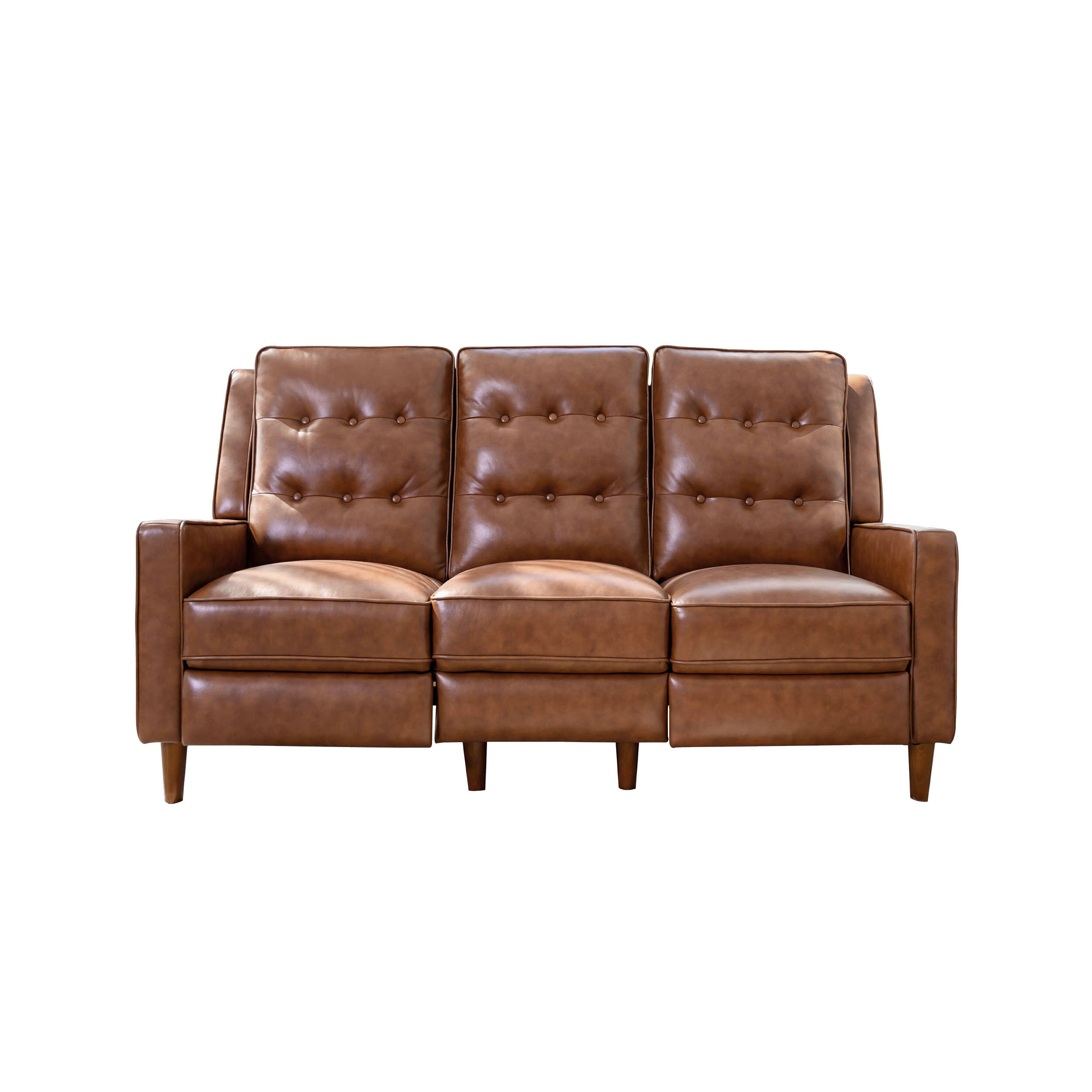 Picture of: Corrigan Studio Grogan Genuine Leather Reclining 73 Square Arm Sofa Reviews Wayfair