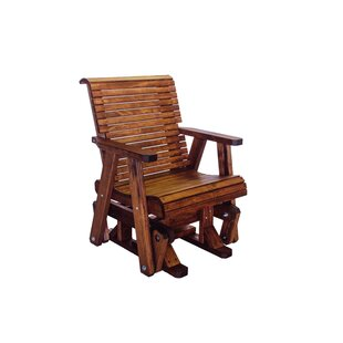 Loon Peak Poulos Low Back Glider Chair