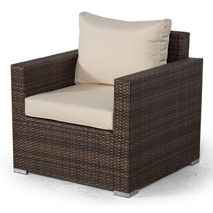 Giardino Brown Rattan Armchair Outdoor Patio Garden Furniture With Cover Image