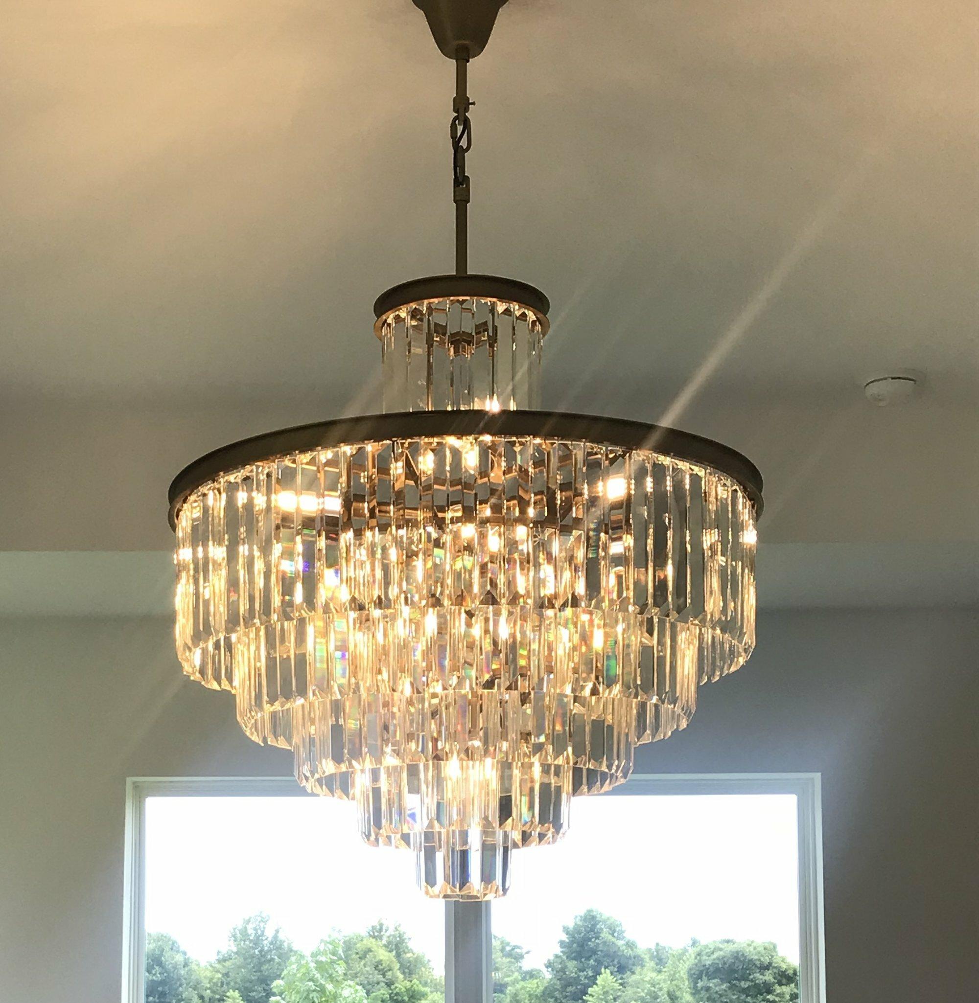 Rosdorf Park Keanu 29 Light Unique Statement Tiered Chandelier With Crystal Accents Wayfair