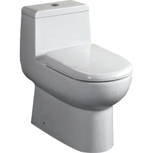 EAGO Ceramic Dual Flush Elongated One-Piece ..