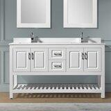 Needville 59 Double Bathroom Vanity Set by Charlton Home®
