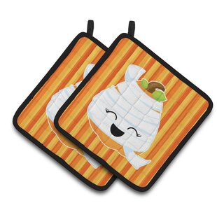 Witches and Black Cat Found Treasure Chest Modern Farmhouse Kitchen Towel Set with Pot Holders and Oven Mitt