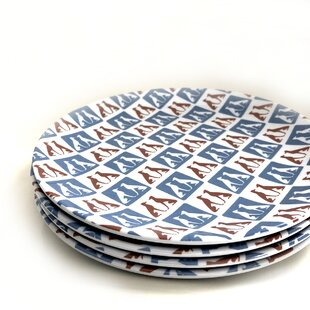 Oisin Greyhound Melamine Salad Plate (Set of 4)
