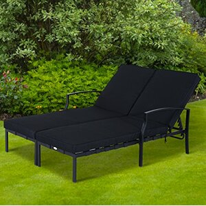Outdoor Double Sun Lounger with Cushion