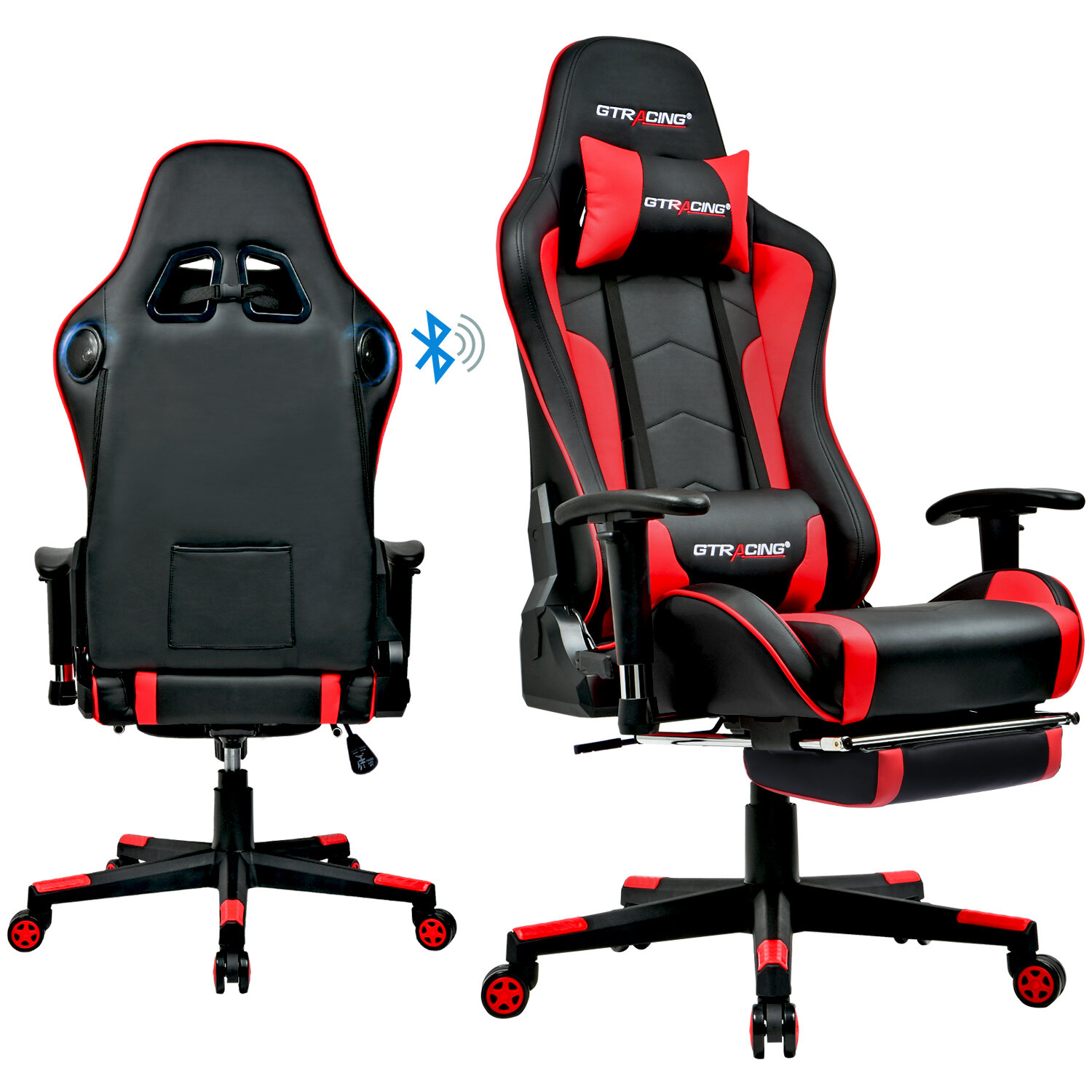 Picture of: Gtracing Bluetooth Speakers Pc Racing Game Chair Reviews Wayfair
