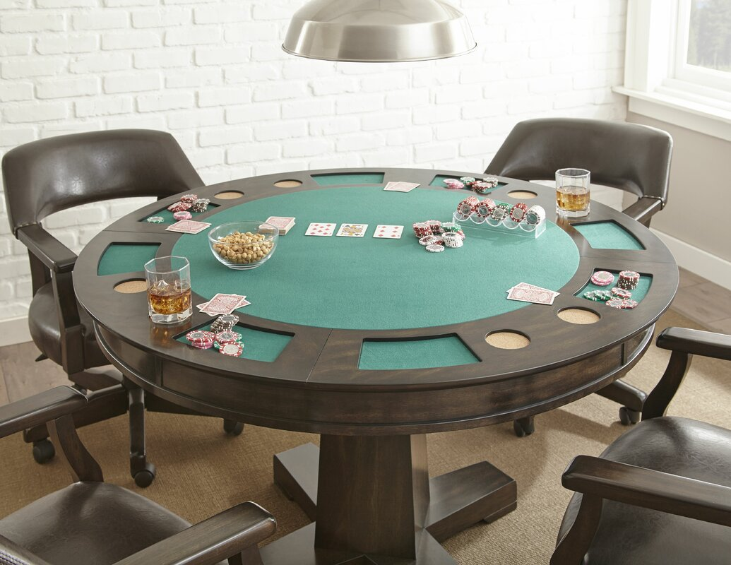 52\  Malcolm Dining-Game Poker Table Set & Red Barrel Studio 52\