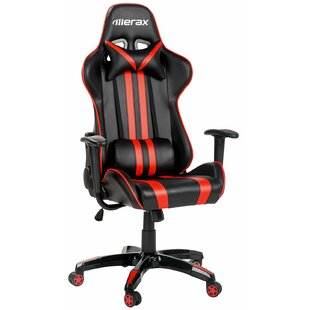 Latitude Run Saucier Leather Gaming Chair