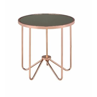 Talamantez Contemporary Round Living Room End Table