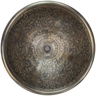Linkasink Brocade Metal Circular Vessel Bathroom Sink
