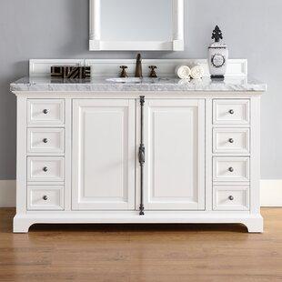 Ogallala 60 Single Cottage White Bathroom Vanity Set by Greyleigh