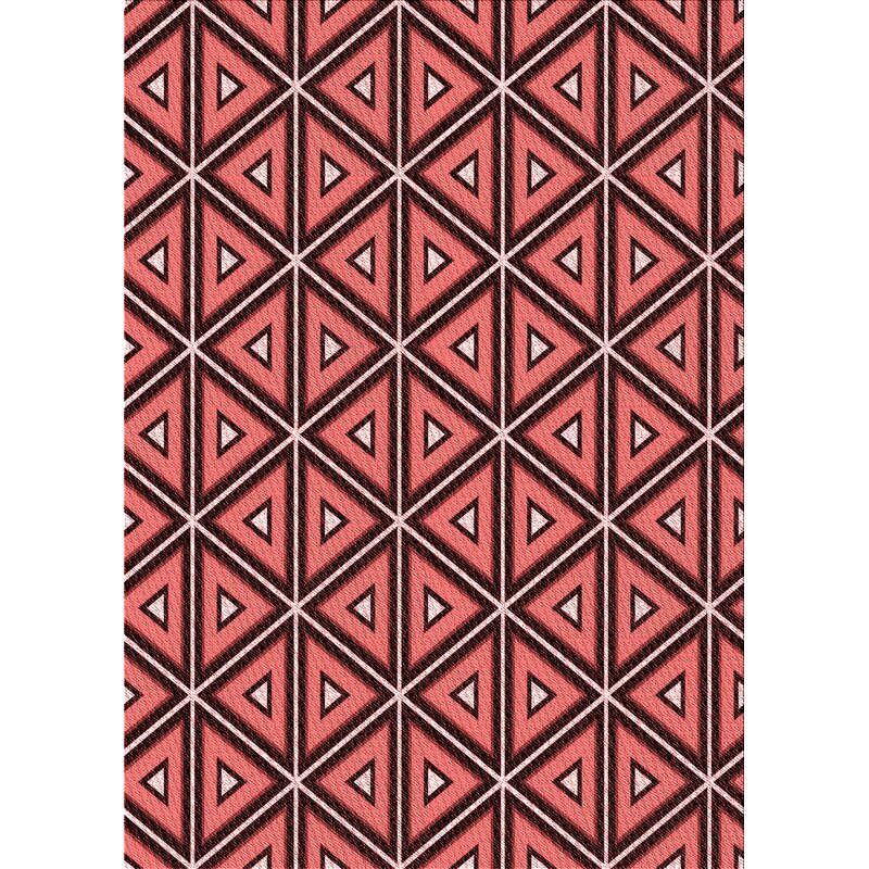 East Urban Home Geometric Wool Red Area Rug Wayfair