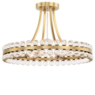 Everly Quinn Gehlert 4-Light Semi Flush Mount