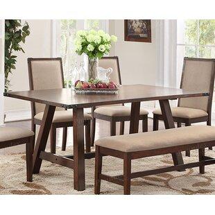 Gracie Oaks Oleary Stunning Wood Veneer Dining Table