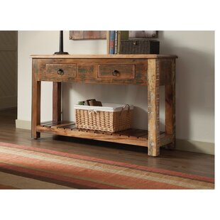 Loon Peak West Oak Lane Charmed Rustically Wooden Console Table