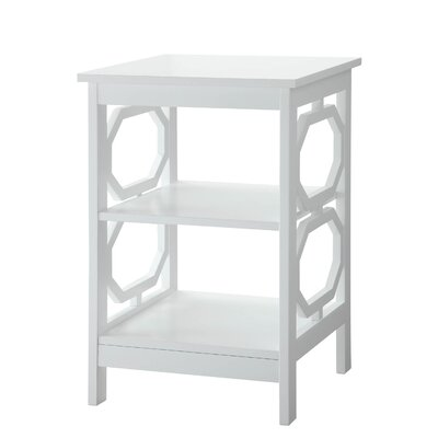 Ardenvor End Table Table Top Color: White, Table Base Color: White by Beachcrest Home