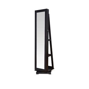 A&J Homes Studio Jazi Free standing Jewelry Armoire with Mirror