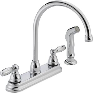 Peerless Faucets Two Handle Centerset Kitchen Faucet with Side Spray