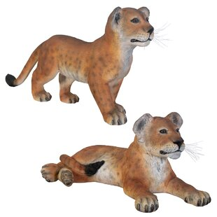 Design Toscano Grand-Scale Lion Cub Statue (Set of 2)